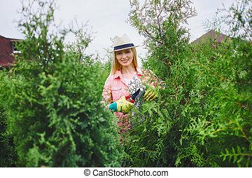 jardineiro, feliz