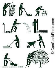 jardinería, pictogram