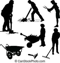 jardineros, herramientas