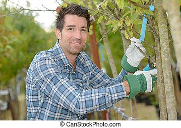 jardinier, fonctionnement, dehors
