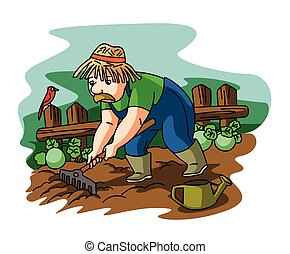 jardinier, homme