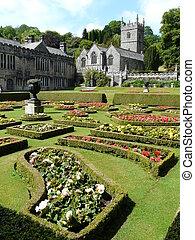 jardins, angleterre, lanhydrock, château