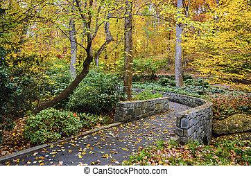 jardins, outono