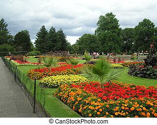 jardins, pessoas