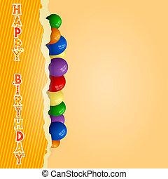 jarig, ballons, achtergrond