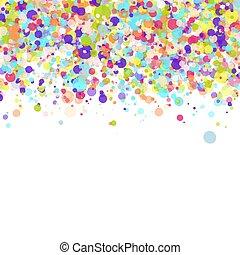 jarig, confetti, feestje, achtergrond