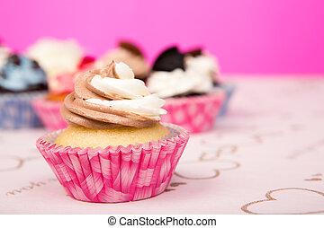 jarig, cupcakes