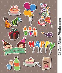 jarig, stickers