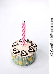 jarig, zich verbeelden, cupcake