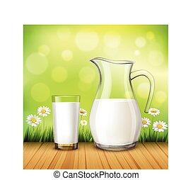 Milk vidrio vector jarra leche vector de clipart for Jarra leche