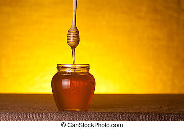 jarro, dipper madeira mel, fluir