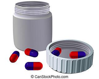 jarro, para, medicinas