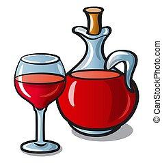 jarro, vinho tinto