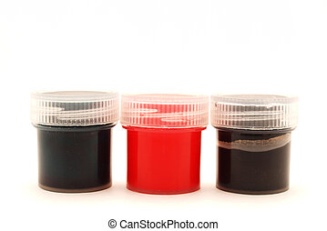 Jars with a paint