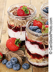 Jars with berries - Picture of jars with different berries