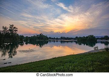 Jarun Lake sunset