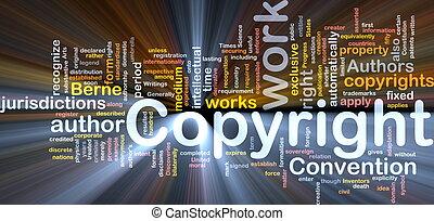 jarzący się, pojęcie, copyright, tło, konwencja