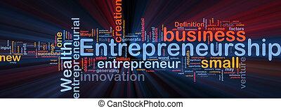 jarzący się, pojęcie, handlowy, tło, entrepreneurship
