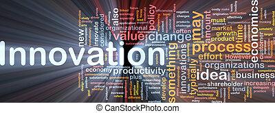 jarzący się, pojęcie, handlowy, tło, innowacja