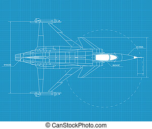 Jas 39 grippen - High detailed vector illustration of a...