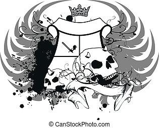 jas, heraldisch, armen, skull10