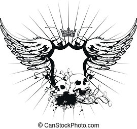 jas, heraldisch, armen, skull6