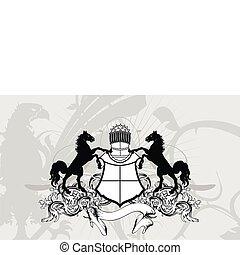 jas, heraldisch, crest1, schild, armen