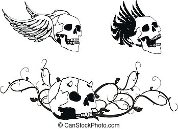 jas, heraldisch, skull4, armen