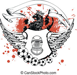 jas, heraldisch, voetbal, armen, crest2