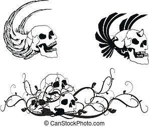 jas, skull5, heraldisch, armen