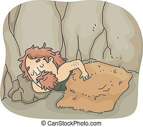 jaskiniowiec, sen
