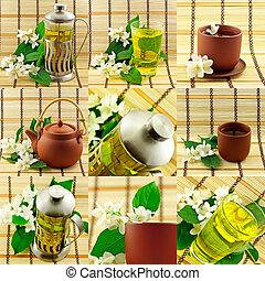 Jasmin tea collage