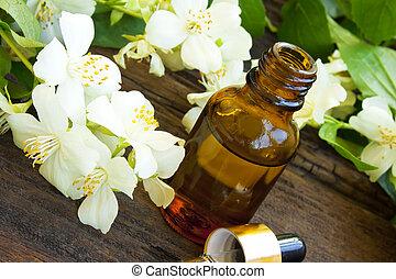 Jasmine Essence - spa jasmine essence bottle with jasmine...