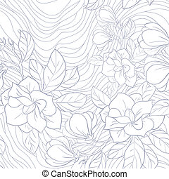 Jasmine floral vector pattern - Jasmine floral vector...