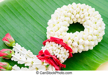 Jasmine garland of flowers.