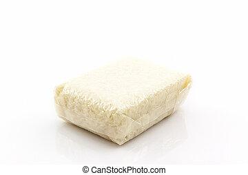 Jasmine rice in small plastic bag. - Jasmine rice in small ...