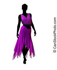 Jasmine Silhouette Illustration - Aladdin fairytale...