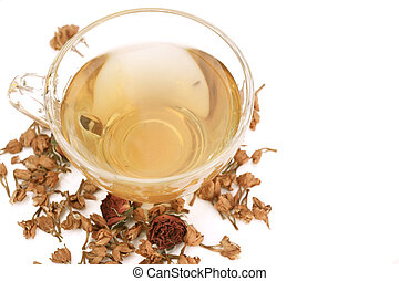 jasmine tea isolated
