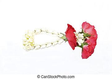 Jasmine Thai Garland isolate, Malai flower