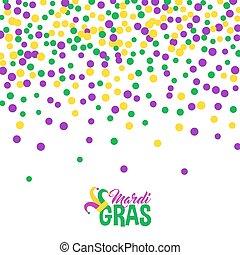 jasny, abstrakcyjny, kropka, mardi gras, próbka