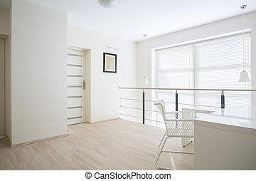 jasny, mezzanine, korytarz, podłoga