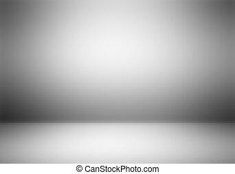 jasny, opróżniać, studio fotografa, tło.