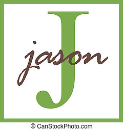 Jason Name Monogram - Name Monogram