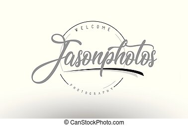 Jason Personal Photography Logo Design with Photographer...