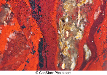 Jasper, an aggregate of microquartz or chalcedony and other...