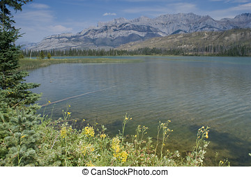 Jasper National Park Athabasca River - Athabasca River in...
