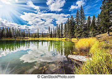 Jasper National Park in the Rocky Mountains