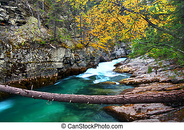 Jasper National Park Malign Canyon - Beautiful blue waters...