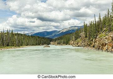 jasper parco nazionale, athabaska, fiume, in, alberta canada