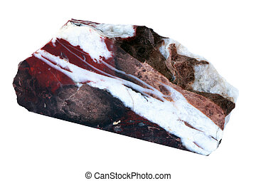 Jasper stone isolated on white background with clipping path